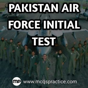 PAKISTAN AIR FORCE INITIAL TEST